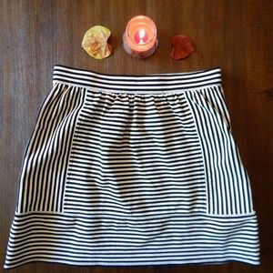 Madewell Striped Heavy-Knit Skirt (Size 4)